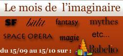 Où Babelio ouvre le mois des littératures de l'imaginaire 15/09-15/10