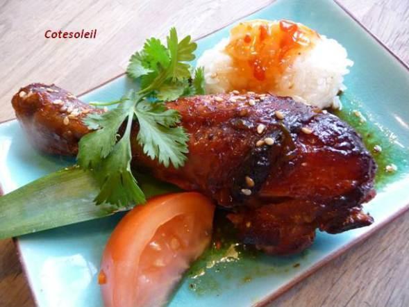 Pilon de poulet caramélisé