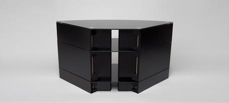 meuble tv d angle noir meuble tv son