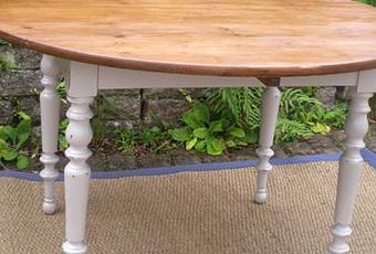 table ronde en bois table basse