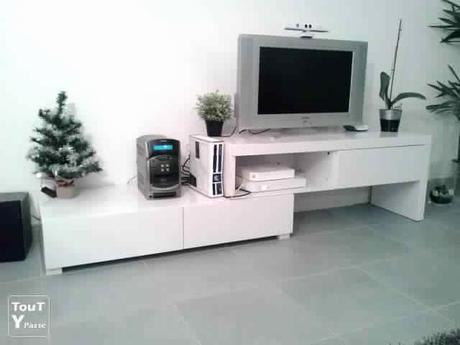 meuble tele blanc laque a decouvrir