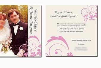 carte invitation anniversaire de