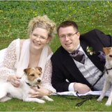 Mina bröllopsparson Jonte & Popper