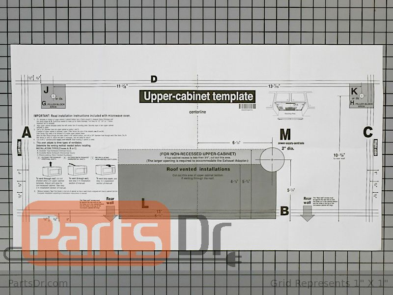 cabinet mounting template