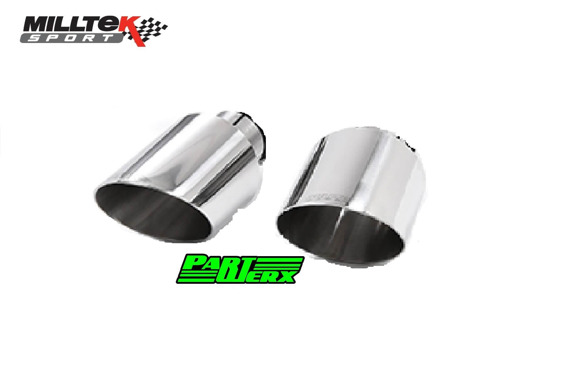 ford focus mk3 rs 2 3 milltek sport 4 5 tailpipe trim dual gt115 exhaust tips
