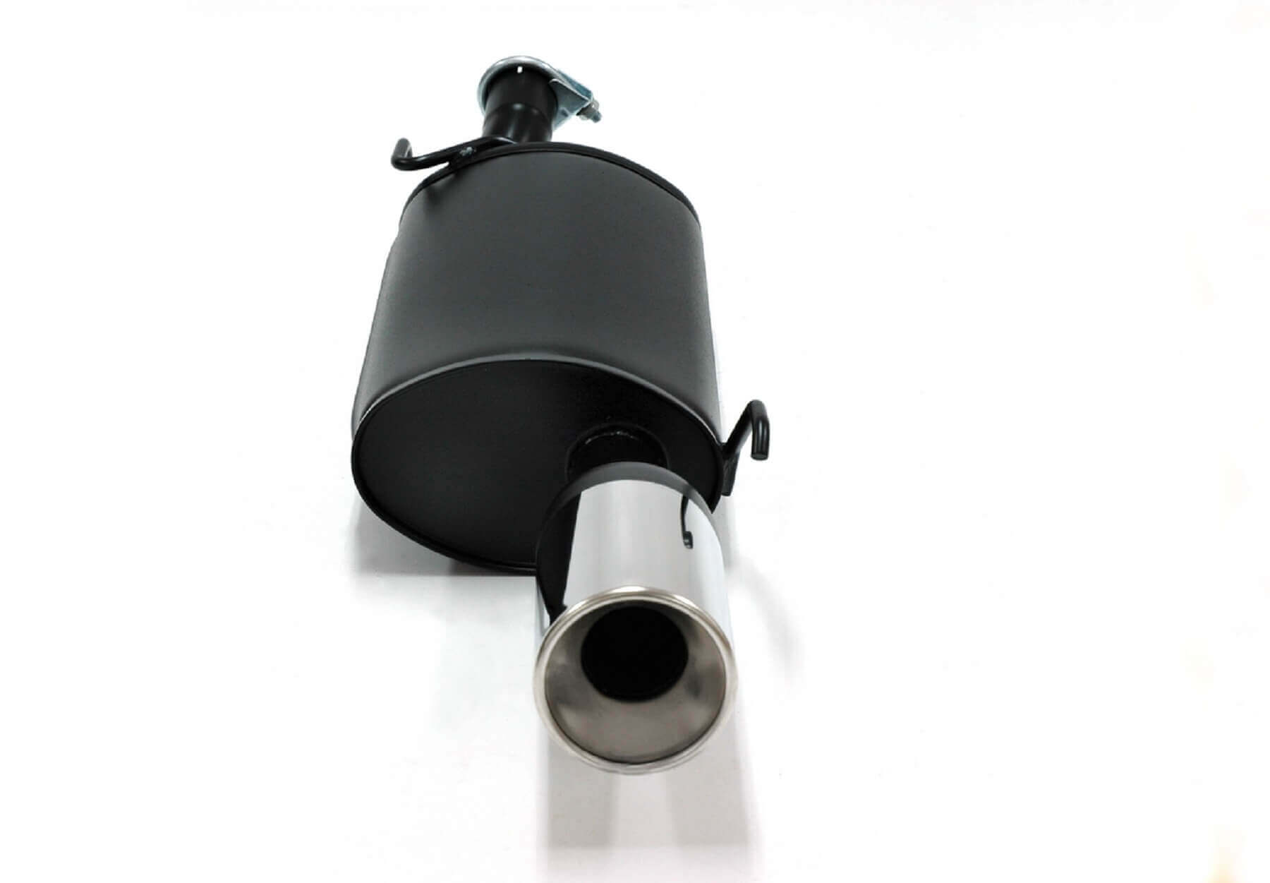 ford fiesta mk4 1 25i 1 3i jetex performance aluminised steel back box exhaust with round 100mm tail pipe