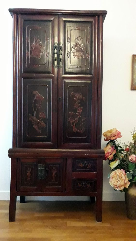 armoire chinoise ancienne grand volume meubles