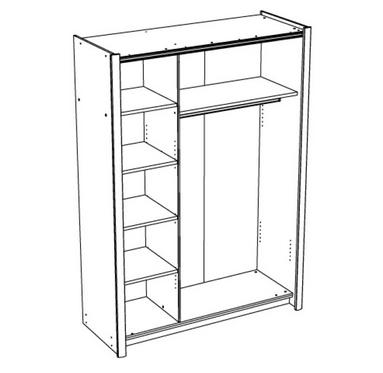 armoire 2 portes coulissantes miroir 1 2 penderie 1 2lingere a 55