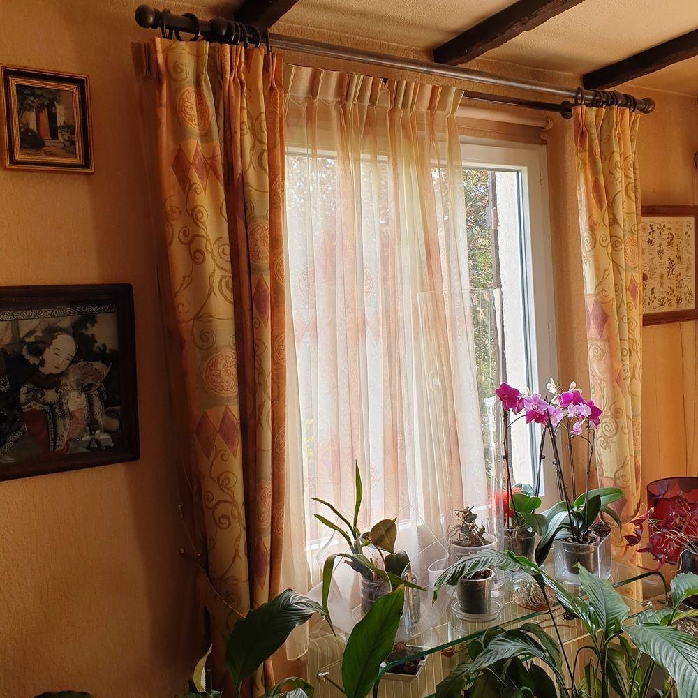 double rideaux et ses voilages a 40