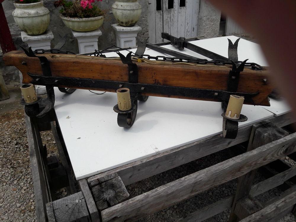 lustre rustique bois fait main a 20