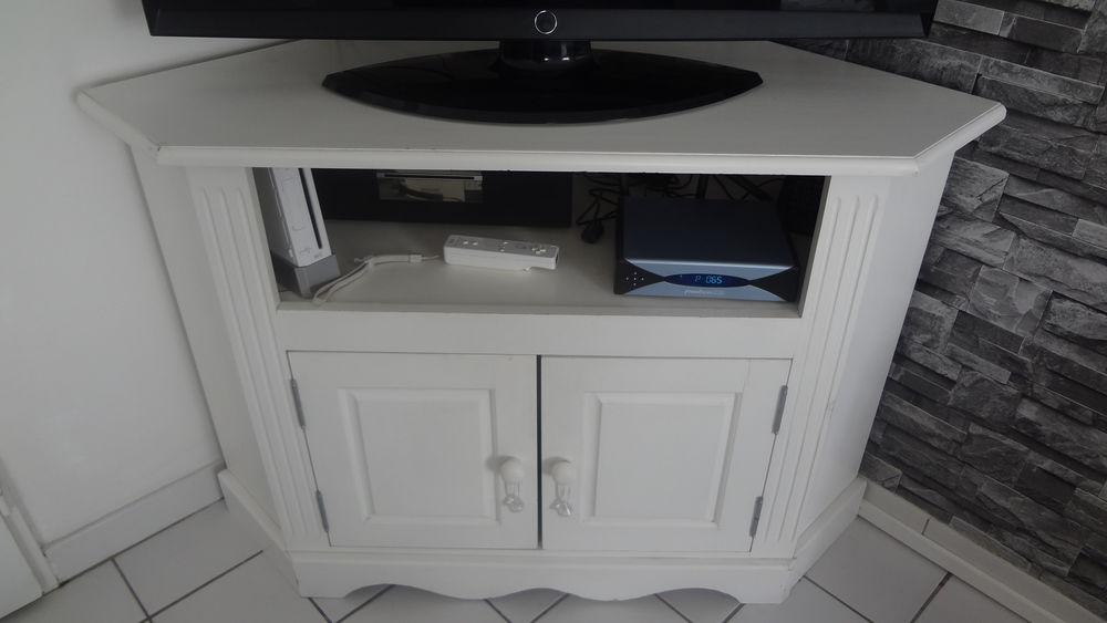 meuble bar tv blanc d angle a 50