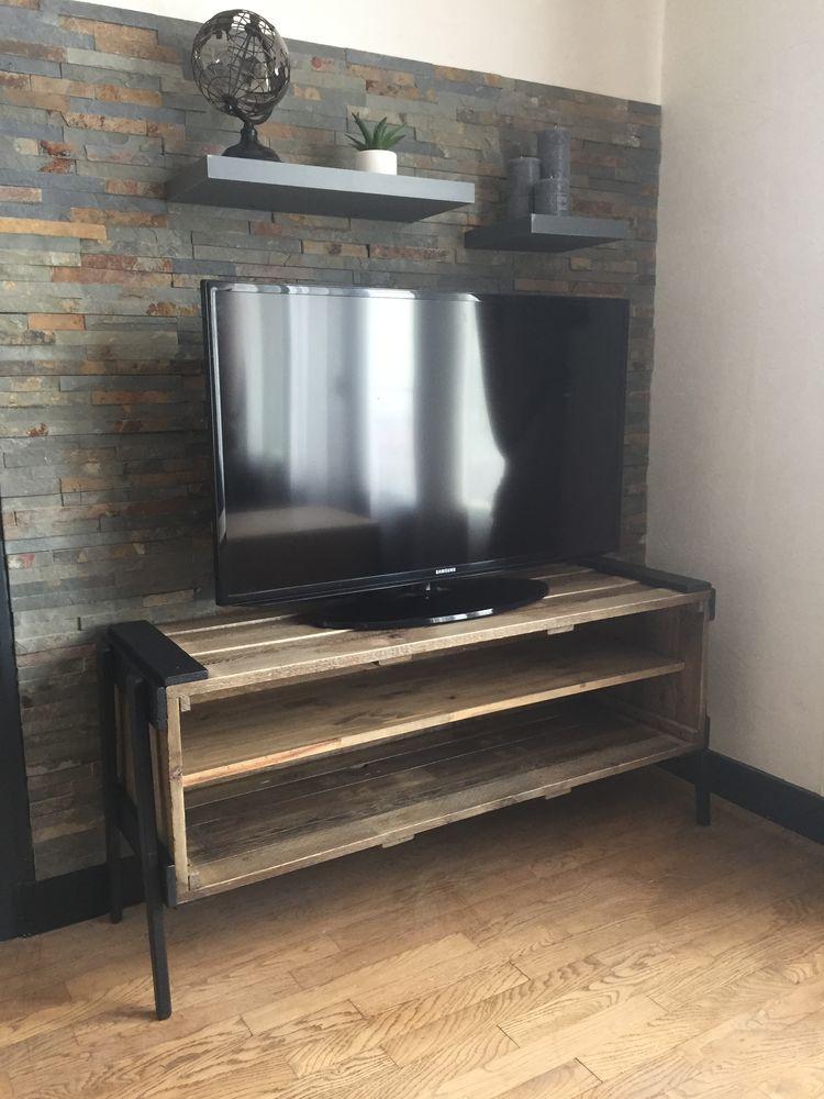 meuble tv en bois fait main a 80