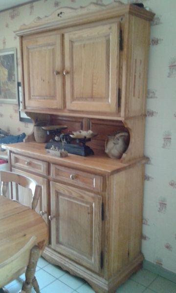 meuble de cuisine pi n massif buffet table chaises a 250
