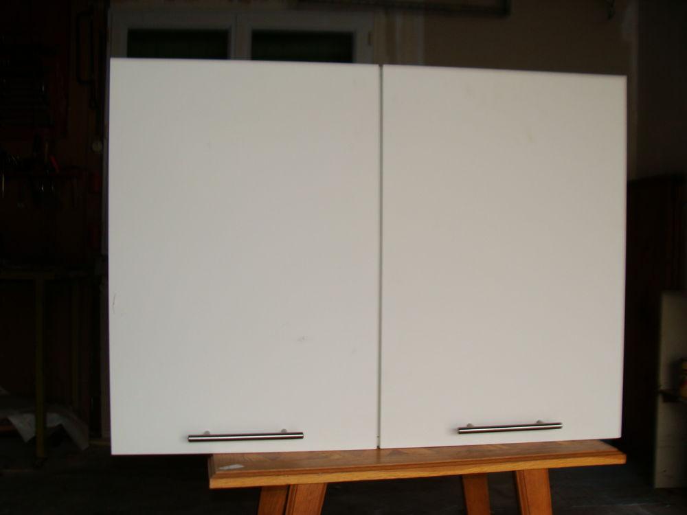 meuble haut 2 portes pour cuisine blanc a 50
