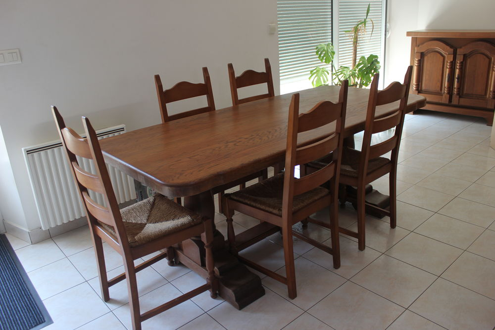 salle a manger chene massif table chaises meuble bas a 500