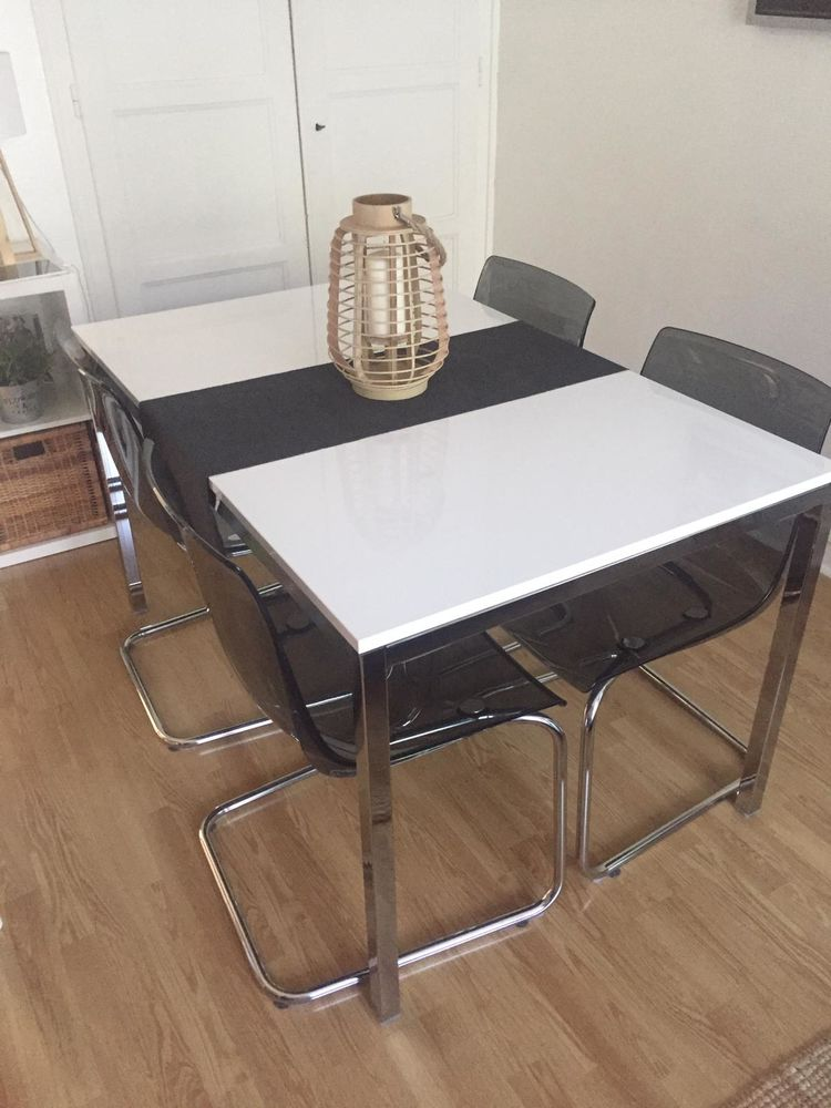 table salle a manger et ses 4 chaises ikea a 280