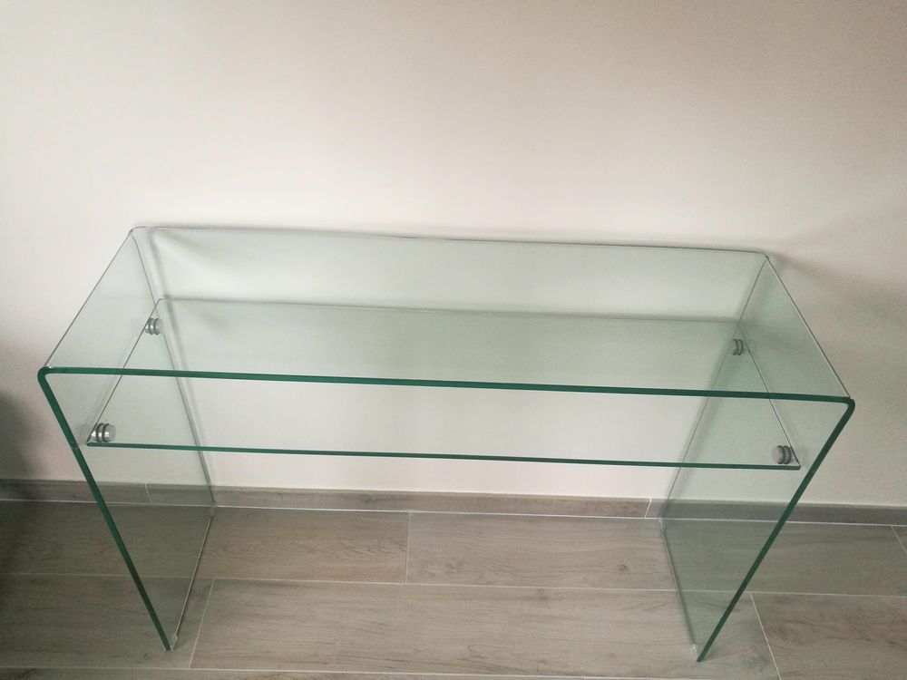 vitro table console 1 tablette verre fly a 200