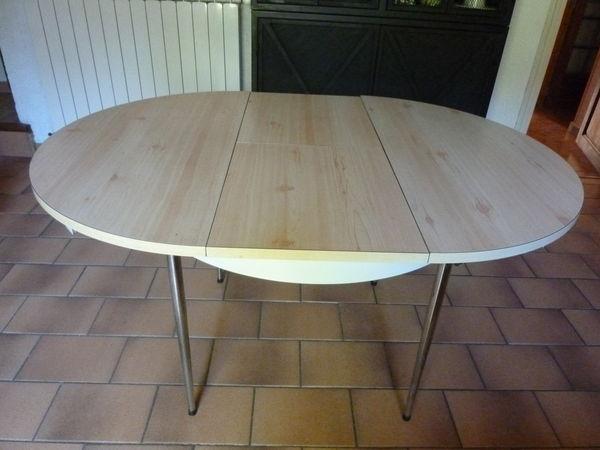 table de cuisine formica avec rallonge