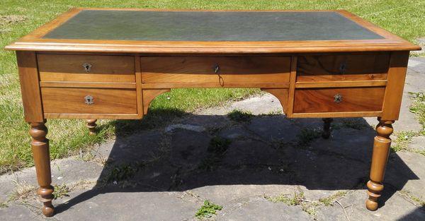 bureau louis philippe merisier massif meubles