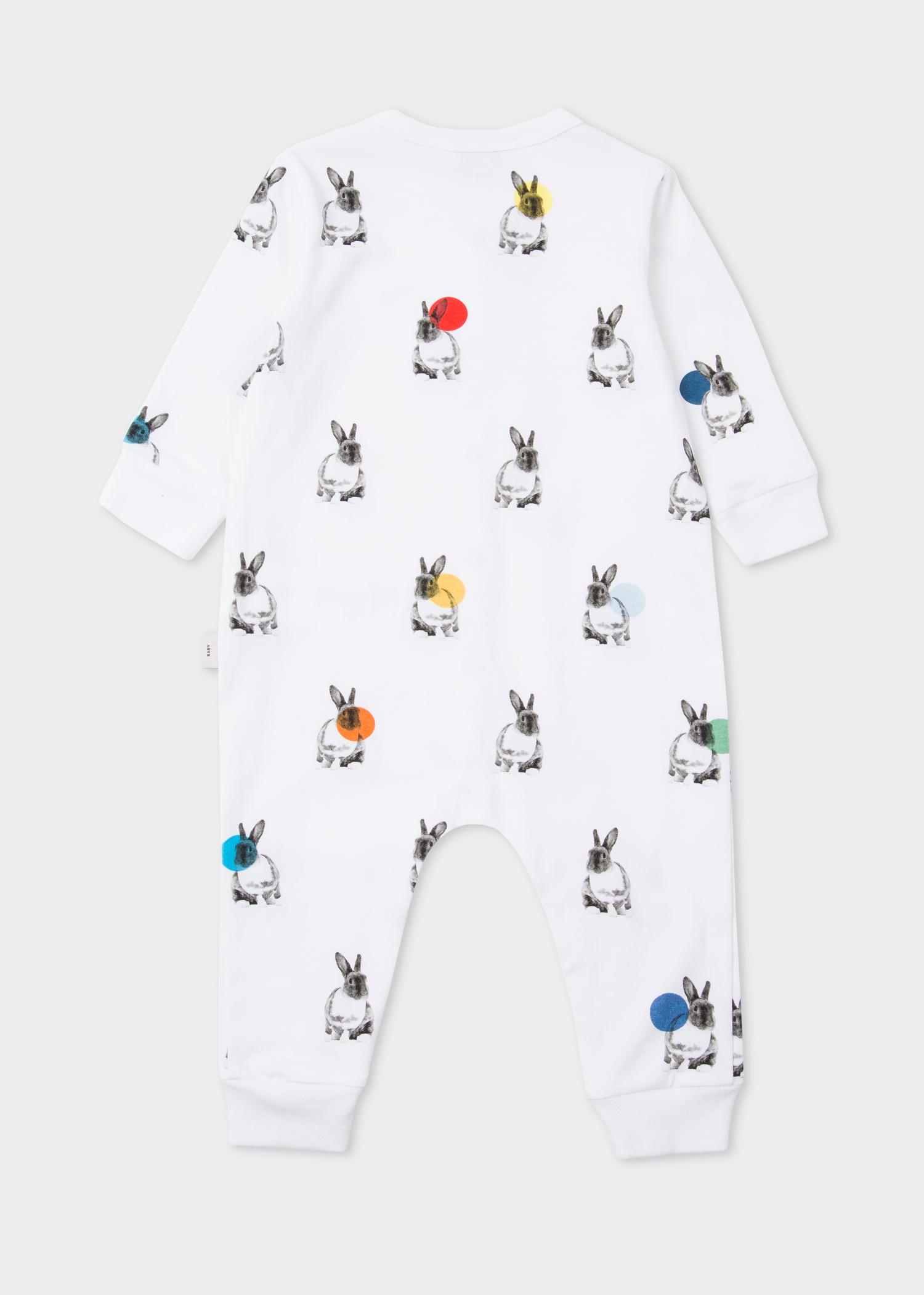 Babies White Rabbit And Polka Dots Playwear Set