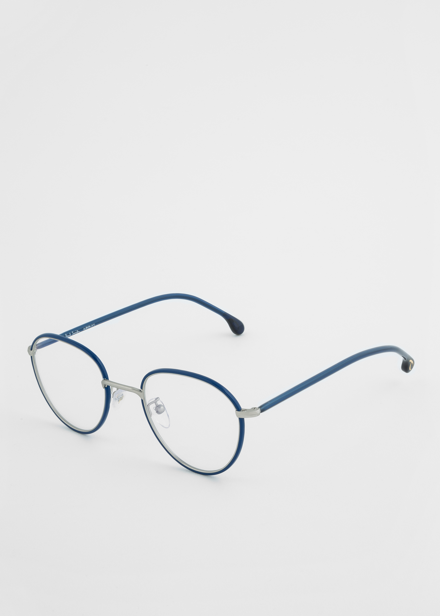 Paul Smith Deep Navy And Silver Albion Spectacles