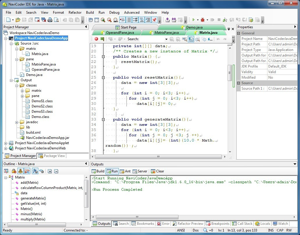 Free Navicoder Ide For Java Main Window