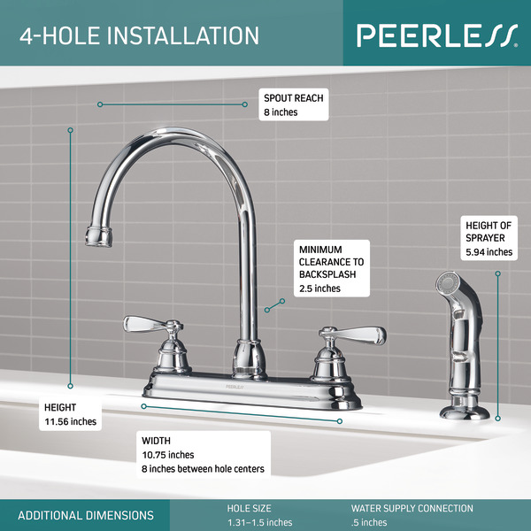 p2943lf w kitchen faucet 2l with spray