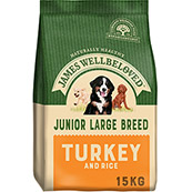 James Wellbeloved Large Breed Complete Junior Dog Food with Turkey & Rice 15kg