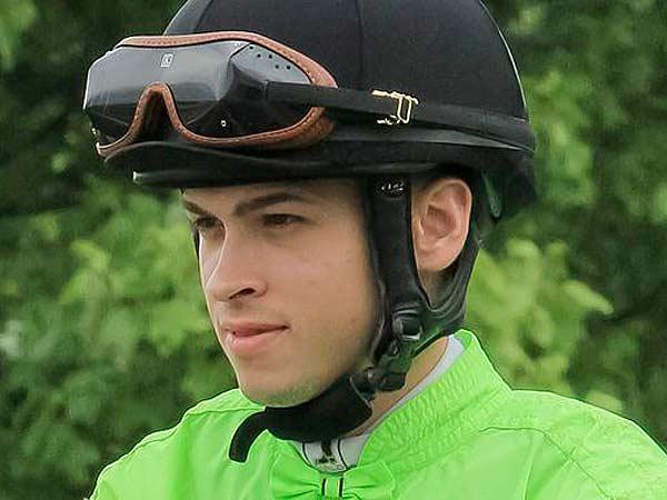 Jockey Angel Suarez. (Photo by Kim Pratt)