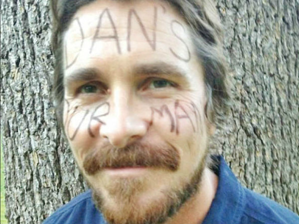 Christian Bale shows support for Danny Hammond who has been battling cancer since he was nine.