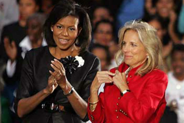 First Lady Michelle Obama and Dr. Jill Biden.