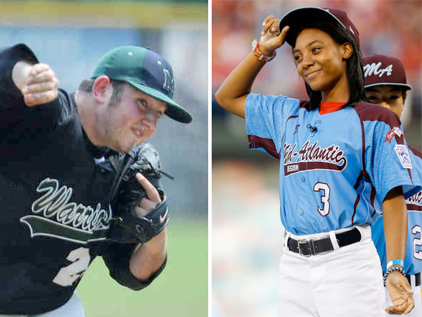 """Former Montco high school standout Joey Casselberry (left) was dismissed from the team at Bloomsburg University after calling Mo´ne Davis a """"slut"""" on Twitter."""