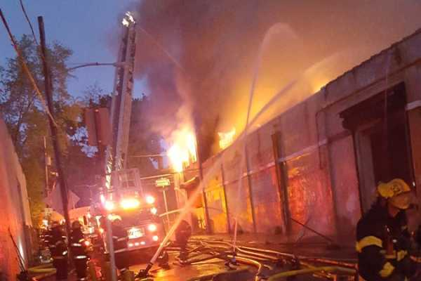 4 Alarm Fire Burns Through Warehouse In Frankford Philly