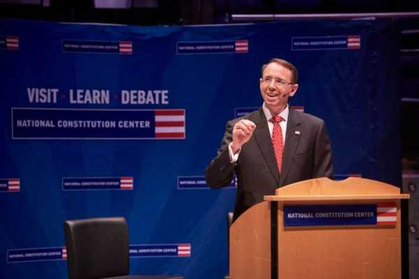 Deputy AG Rosenstein addresses Constitution Center crowd ...