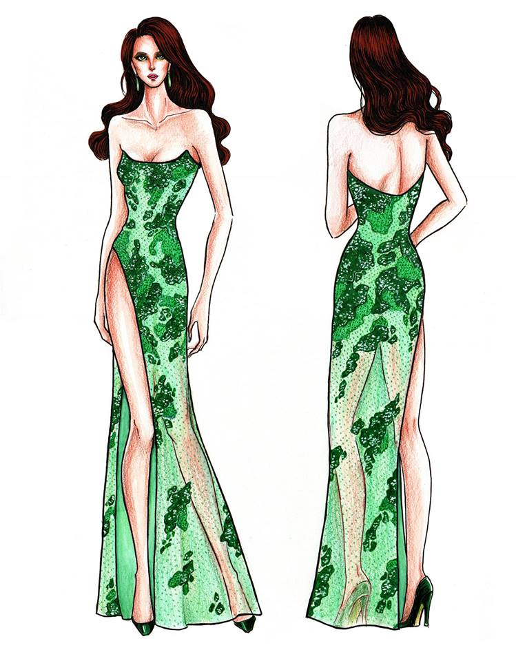 LOOK Sketches Of Catriona Grays Possible Miss Universe