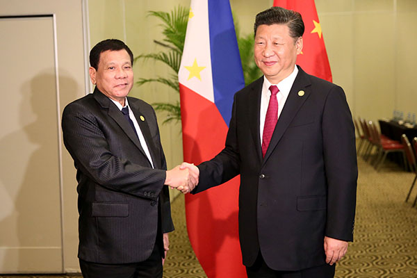 Image result for Duterte and Xi Jinping, photos
