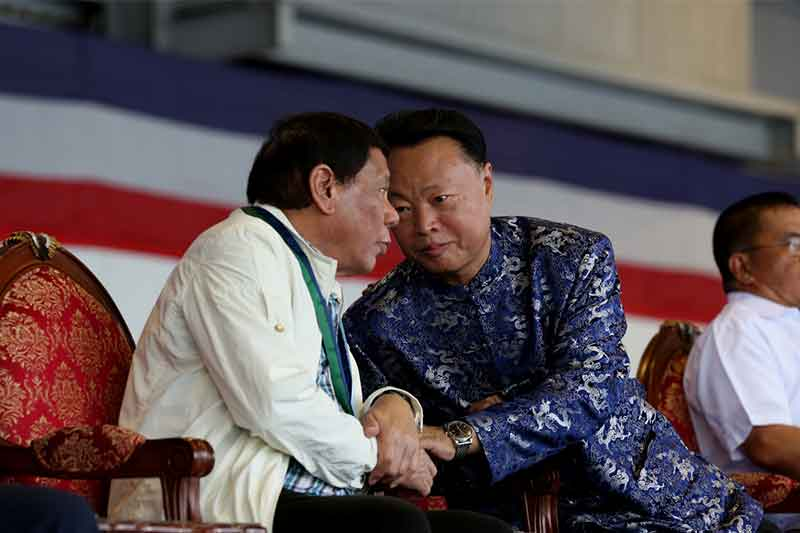 Image result for Duterte, Philippines, Photos, with China ambassador