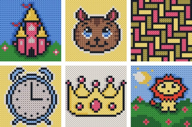 Examples of different bead patterns that are adapted for kids