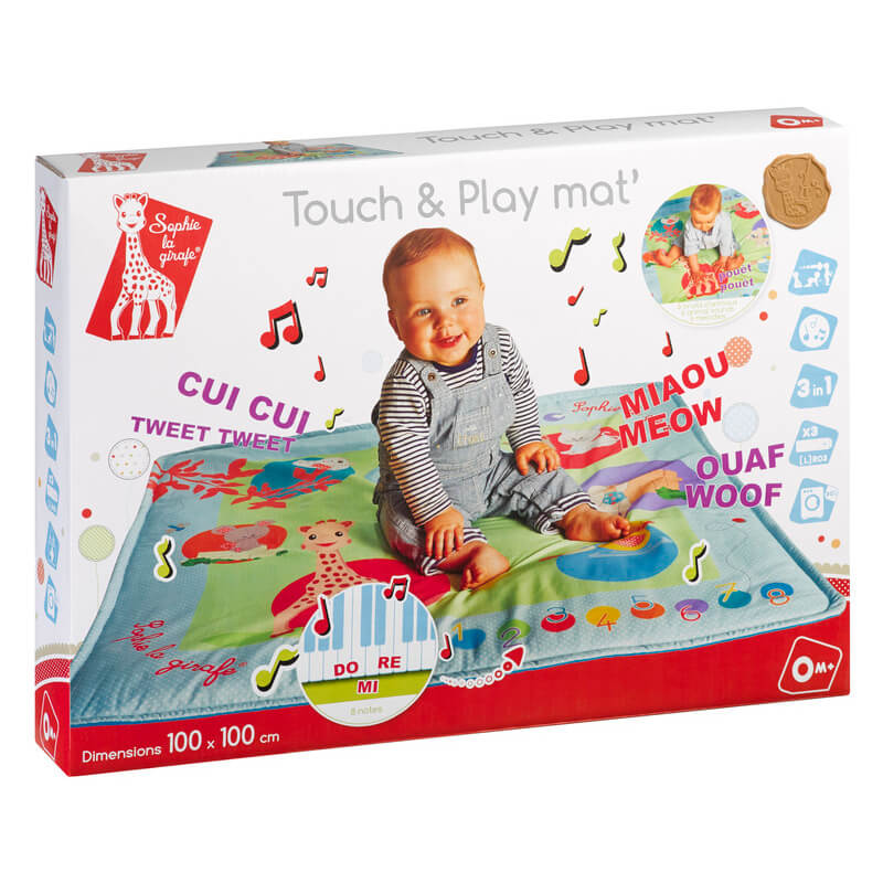 tapis touch play musical sophie la girafe