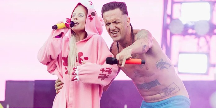 Die Antwoord photo by Erika Goldring/FilmMagic