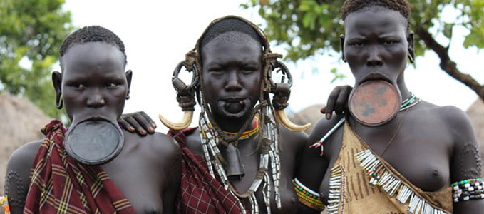 Image result for picture of Lip stretching - Ethiopia and Sudan