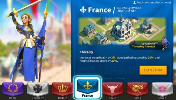 rise of kingdoms - france