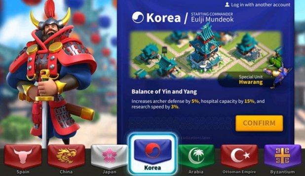 rise of kingdoms- korea