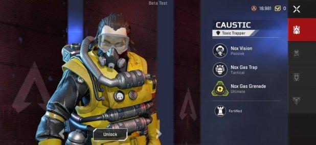 Apex Legends Mobile Caustic abilities