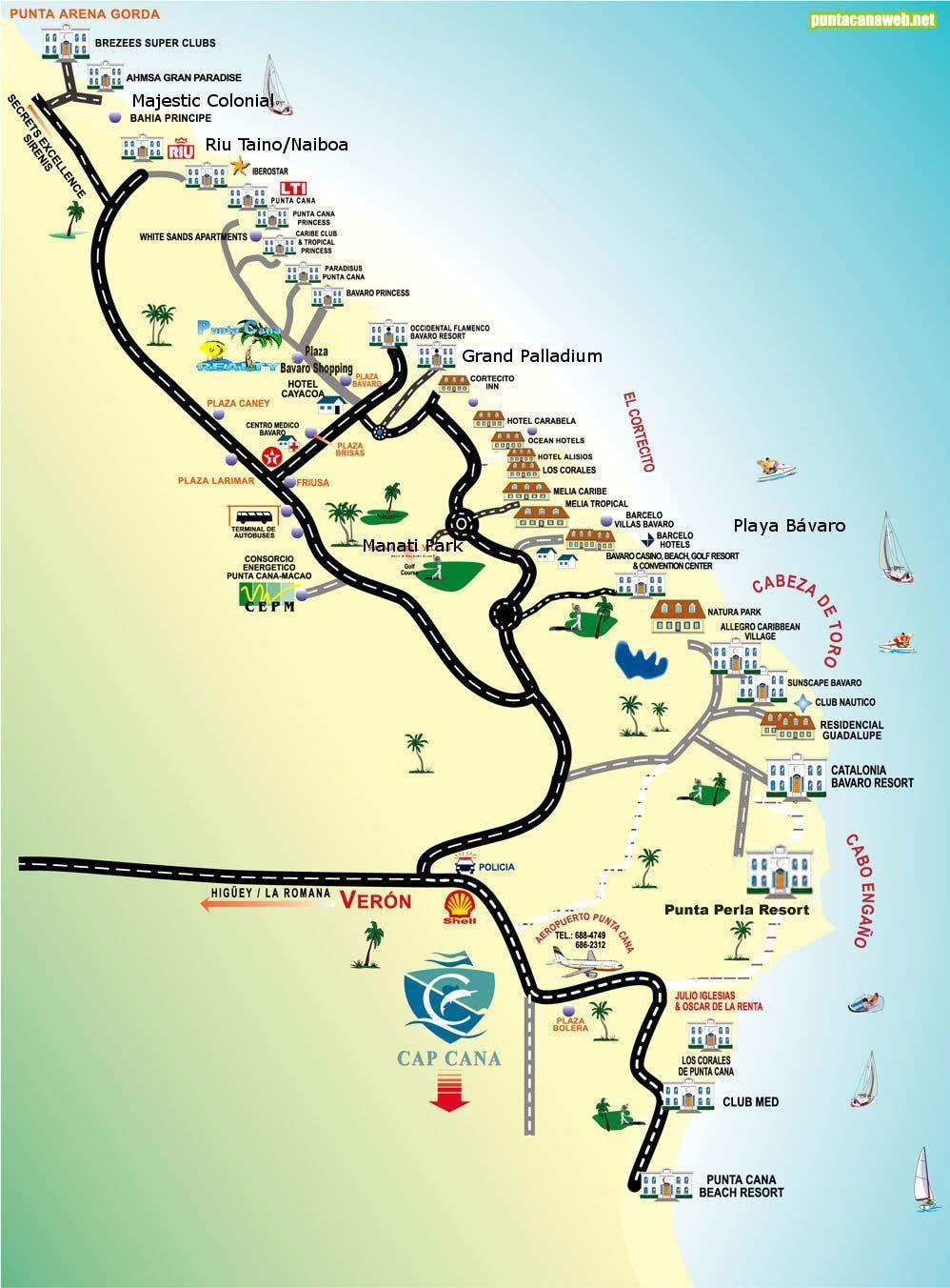 Can Map Resorts Punta Republic Dominican