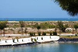 troiaresort beach facing the serra da arrabida nature reserve