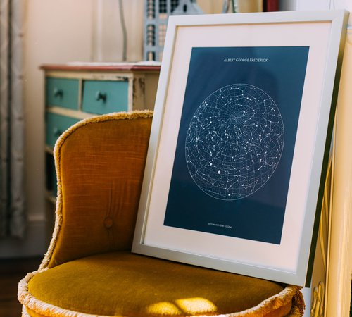 personalized star map print or poster