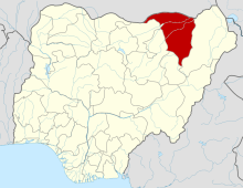 Yobe on map