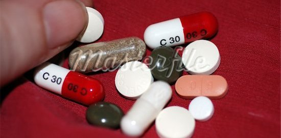 Pills used to illustrate the story.