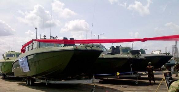 Nigerian army gun boat